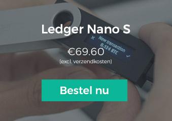 Bestel de Ledger Nano S