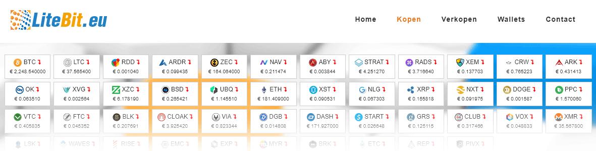 Bitcoins kopen bij Litebit